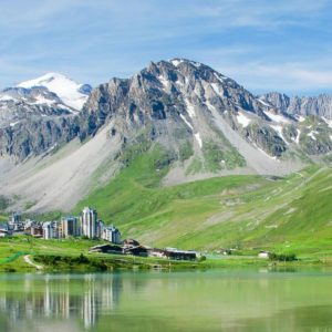 Summer in Tignes, French Alps.