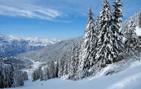 Skiing in the Grand Massif, French Alps