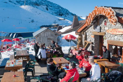 Marmotte mountain restaurant, Chatel, Portes du Soleil, French Alps