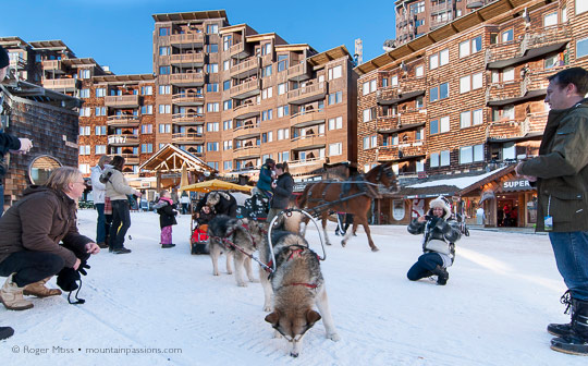 sled-dogs Avoriaz centre
