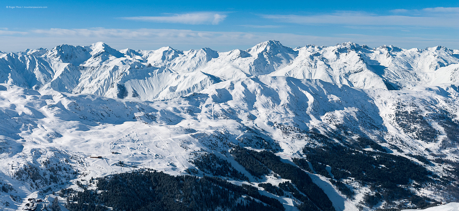 The 3 Valleys ski area, accessed from Brides-les-Bains