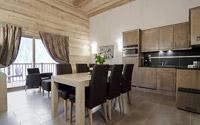 Interior of apartment at Chalets d'Angele, Chatel, Portes du Soleil