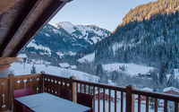 Balcony with view at the Chalets d'Angele, Chatel, Portes du Soleil