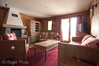 Le Refuge apartment interior, Les Eucherts, La Rosiere