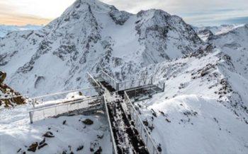 Aiguille Rouge viewing platform, Les Arcs, French Alps