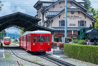 Montenvers Mer de Glace, train in Chamonix station