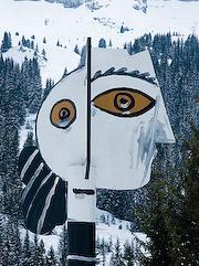 La Tête de Femme, work by Pablo Picasso, Flaine ski resort