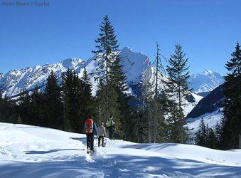 snowshoeing, Manigod, Les Aravis