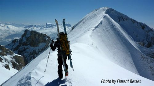 Ski touring in the Dévoluy – summit in view