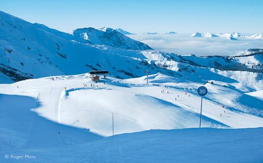 Chatel ski area, blue piste