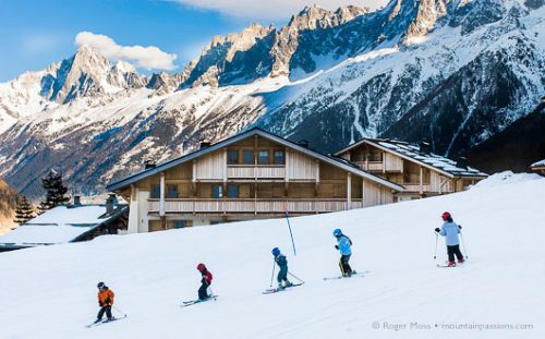 Children learning to ski, Les Houches
