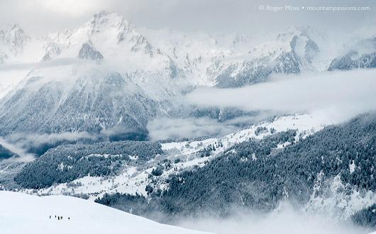 Mountainous view with mist, St Francois Longchamp