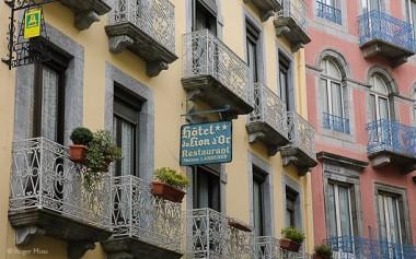 Hotel Lion d'Or facade, Cauterets
