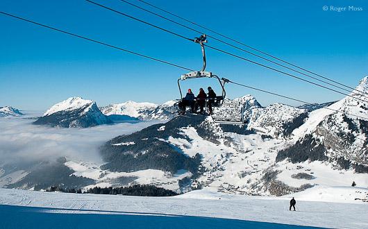 Ski-lift, Le Grand Bornand
