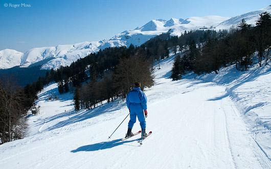 Skier, Cardouet sector, Hautacam