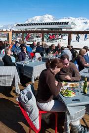 On-mountain restaurant Le Super-Megève, Megève