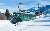Mont Blanc Tramway in winter, Les Houches