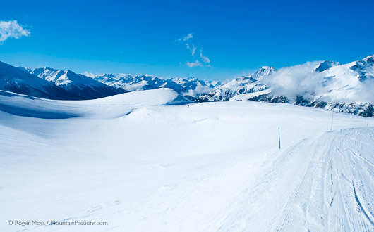 Uncrowded and natural, terrain above Termignon, Val Cenis Vanoise