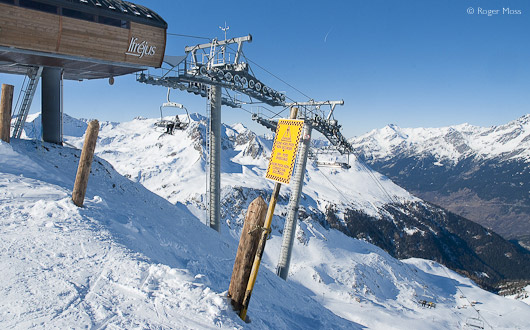 The Punta Bagna chair-lift , Valfrejus