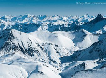 The vast panorama from Pic Blanc, Alpe d'Huez