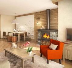 l'Hévana residence, Meribel, Three Valleys, apartment interior