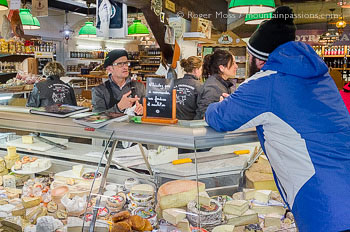 Interior of La Fromagerie cheese seller, Les 2 Alpes