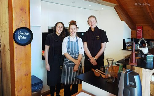 Chalet staff in kitchen at Flocon des Neiges, Reberty Village, Les Menuires