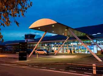 Chambery Airport entrance