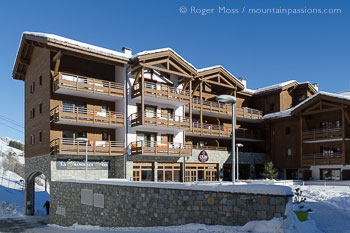 Exterior view of CGH La Grange aux Fees ski apartments, Valmorel, Savoie, French Alps