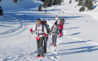 Snow shoeing with a guide in the Pyrenees
