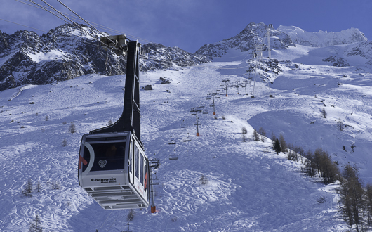Grand Montets cable car, Argentiere, Chamonix Valley, French Alps