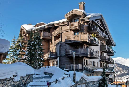 Manali Lodge exterior, Courchevel Moriond, French Alps