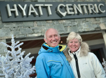 Nicholas and Marielle Plummer at the Hyatt Centric La Rosiere