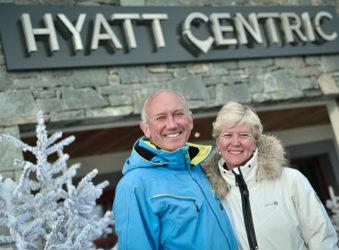 Nicholas and Marielle Plummer at the Hyatt Centric La Rosiere