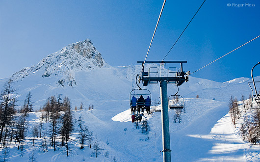 Chairlift at Serre Chevalier