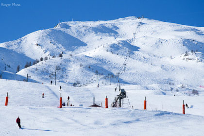 Puy-Saint-Vincent ski resort offers plenty of intermediate terrain above the forest.
