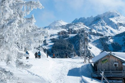 Mountain scenery above Morzine, French Alps