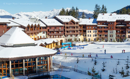 Beginners ski-school, Club Med resort, Valmorel, French Alps