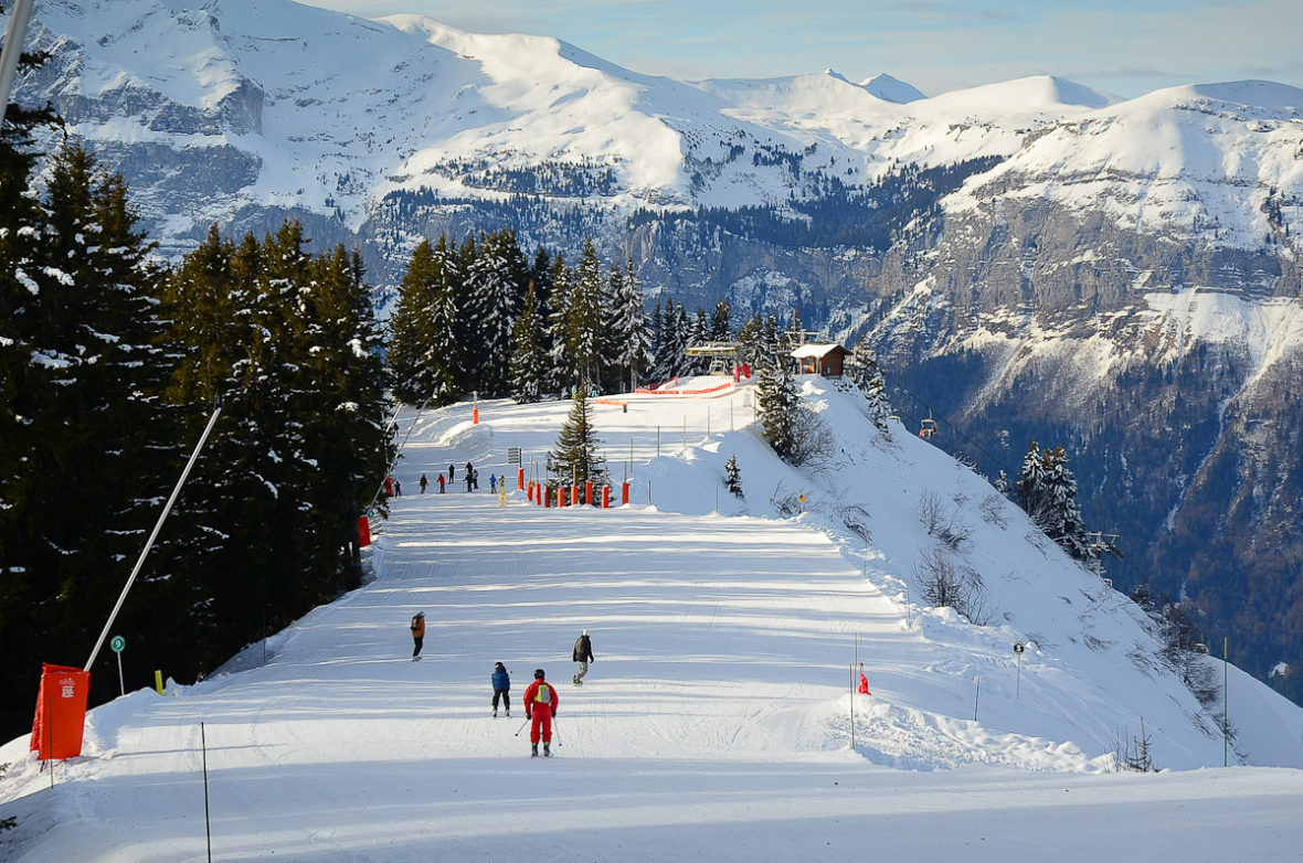Liaison between Samoens and Les Carroz, Grand Massif