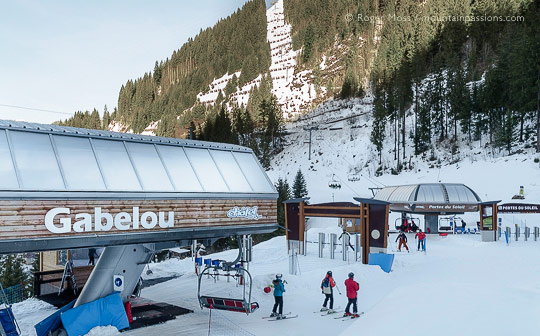 Gabelou chairlift, Chatel, Portes du Soleil, French Alps