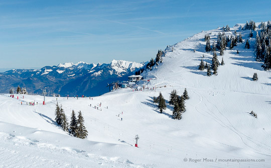 Link between Petit Chatel and Torgon, Portes du Soleil, French Alps