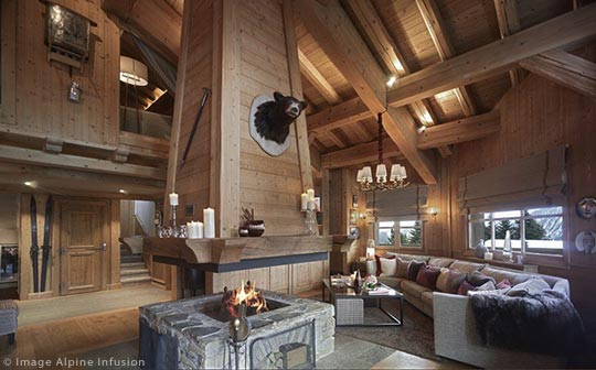 Alpine Infusion Chalet Les Sorbiers, Courchevel, Three Valleys, French Alps.