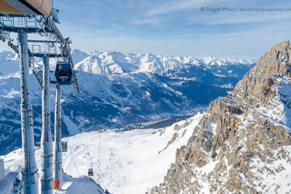 Gondola ski lift, Meribel, French Alps