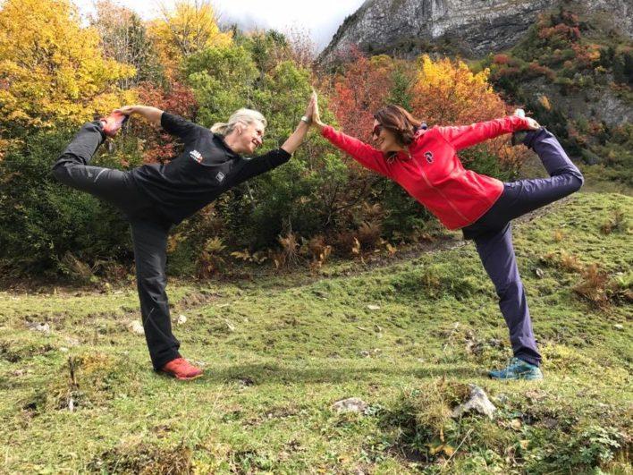 Séance de yoga à Morzine