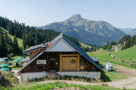 Chalet d'Alpage Barbossine mountain dairy and restaurant.