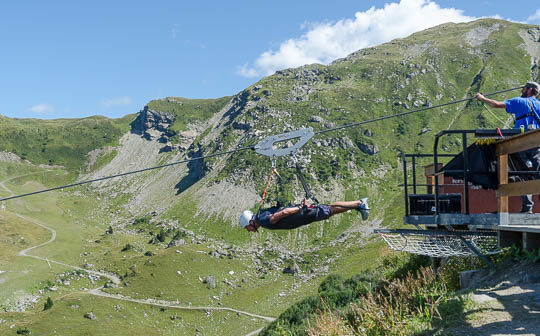 Launching off on the Fantasticable, Châtel