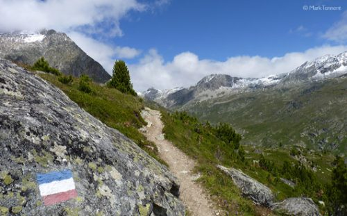 the long distance footpath GR5 near the Col du Barbier