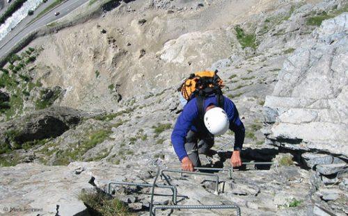 Via ferrata, Val d'Isere, French Alps