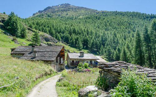 Mountain chalets, Le Monal near Sainte-Foy-Tarentaise