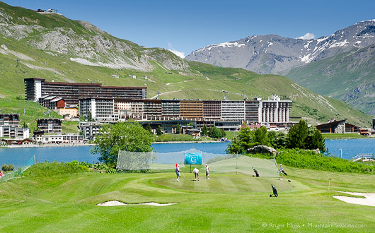 Golf course, Tignes